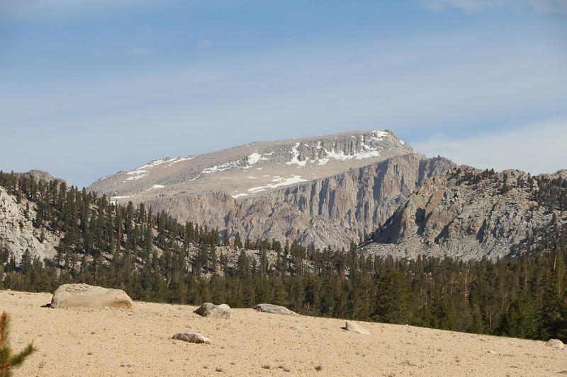 Zoomed-in view of Mount Langley (14026 feet elevation) from Horseshoe Meadows