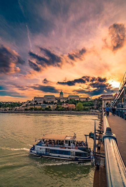 Sunset in Budapest