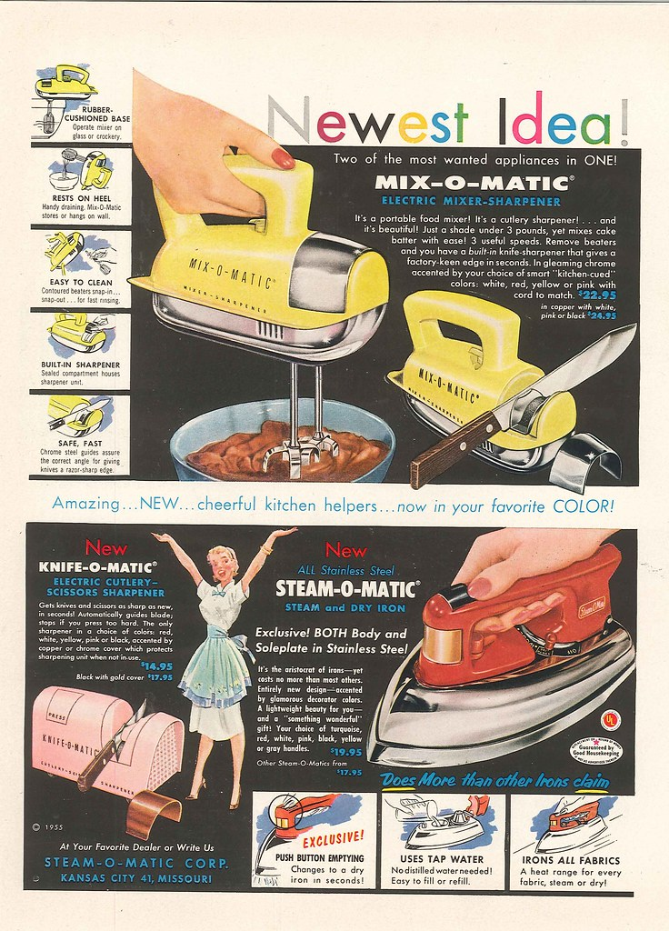 Mix-O-Matic, Knife-O-Matic, Steam-O-Matic 1955