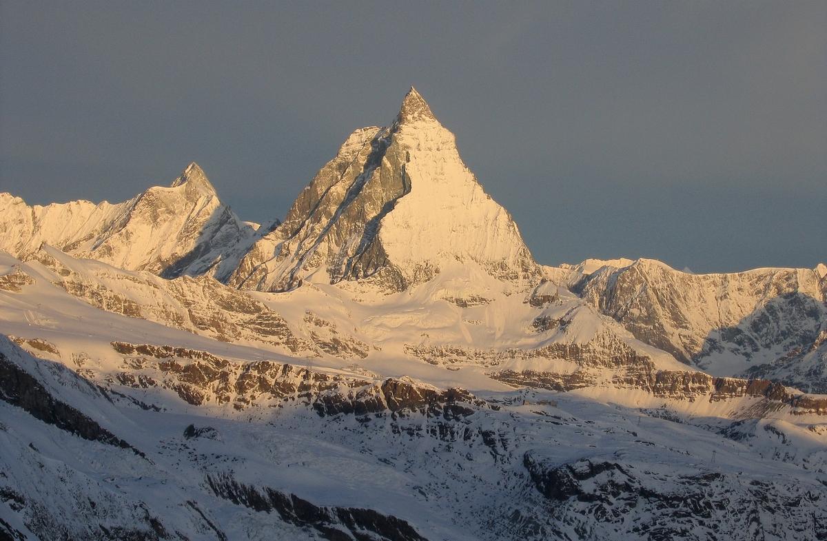 Monte Rosa Hütte Walliser Alpen / Alpes valaisannes Switzerland panorama 33