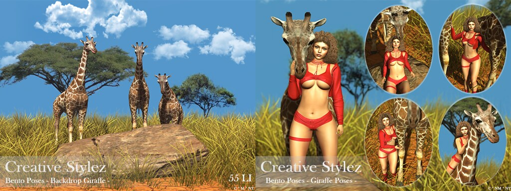 Creative Stylez - Bento Poses & Backdrop - Giraffe -