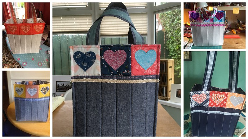 Applique Hearts Boxy Bag Class