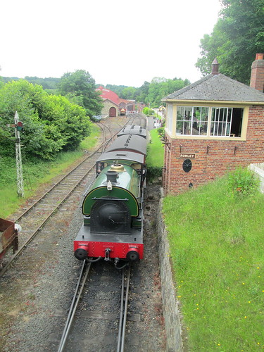 Railway Locomotive and Carriages, Beamish