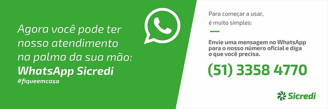 Whatsapp Sicredi - nosso atendimento na palma da sua mão