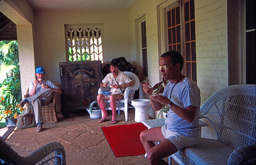 Ice cream on the veranda - Kauai 1986
