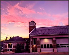 Westminster Md. Fire Dept. at sunset