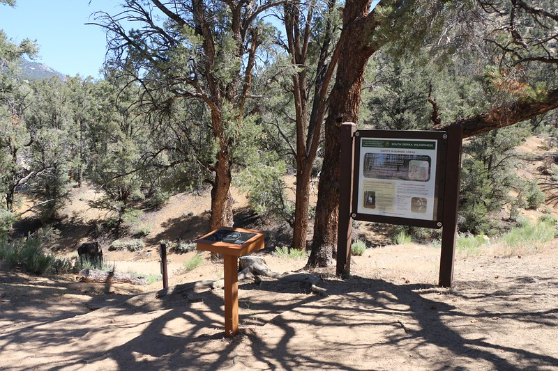 The Pacific Crest Trail Register Box at the trailhead in Kennedy Meadows