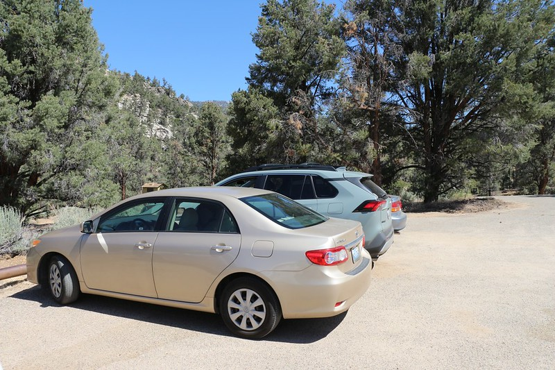 We left the Corolla at the hike's terminus in Kennedy Meadows, then headed north in the Rav4