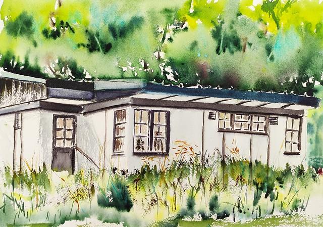 Une cabane américaine à Soye