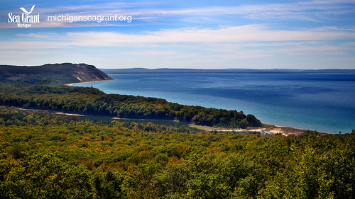 Platte River Sleeping Bear National Lakeshore Lake Michigan Virtual background left logo | by michiganseagrant