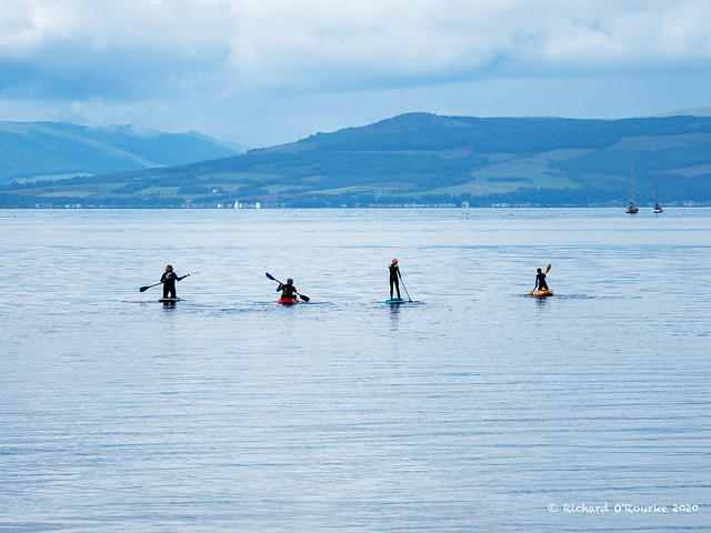 Largs paddling