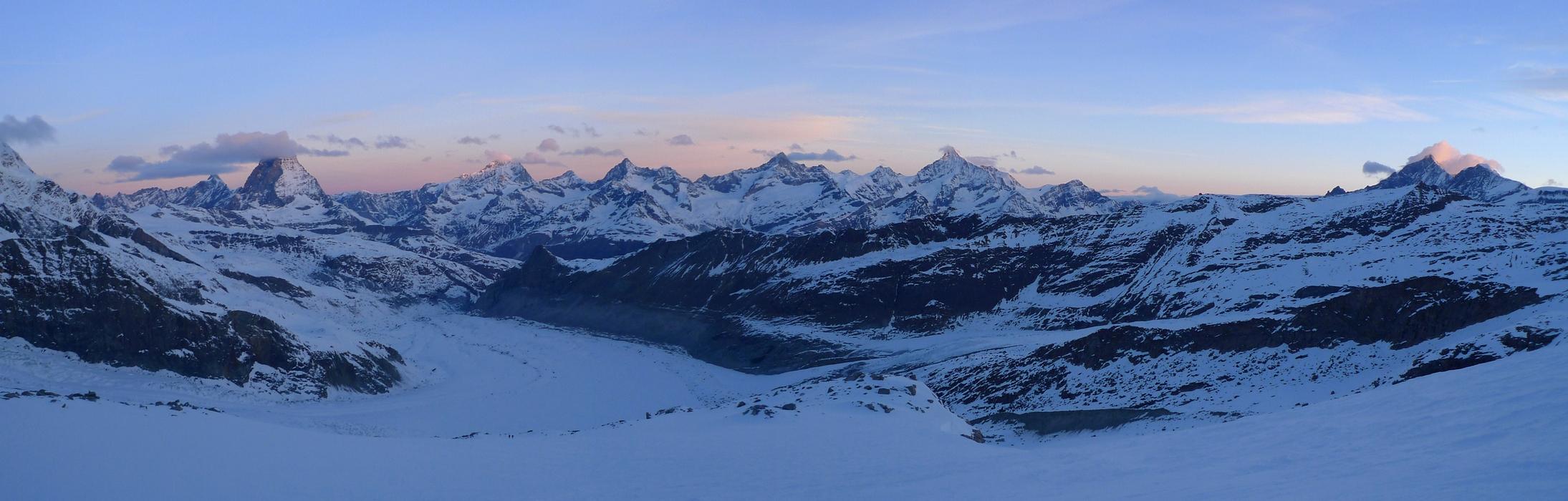 Dufourspitze / Punta Dufour - Monte Rosa Walliser Alpen / Alpes valaisannes Švýcarsko panorama 25