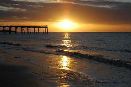 water waves lowestoft lowestoftsouthbeach lowestoftbeach sun sunrise morning morninglight reflection reflections reflectionsinwater clouds