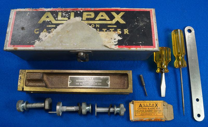 RD30393 Vintage Allpax Adjustable Extension Gasket Cutter Tool in Original Metal Case DSC08998