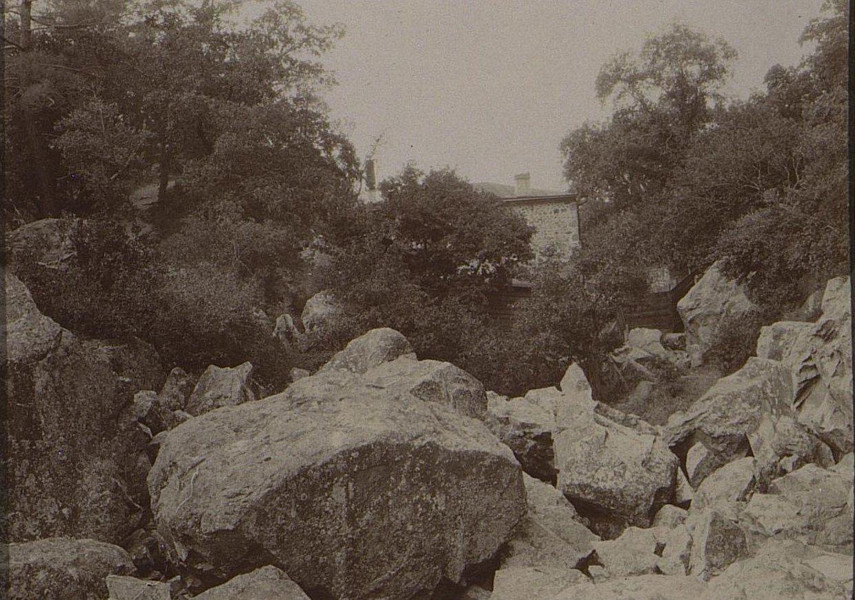15. Большие камни и деревья