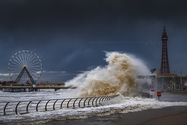 Storm Ciara batters Blackpool