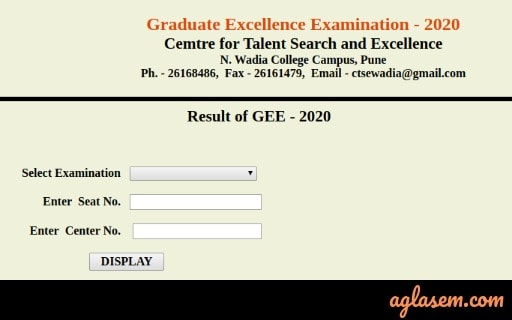 GEE 2020 result