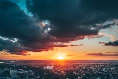 Sunset | Kaunas aerial #189/365
