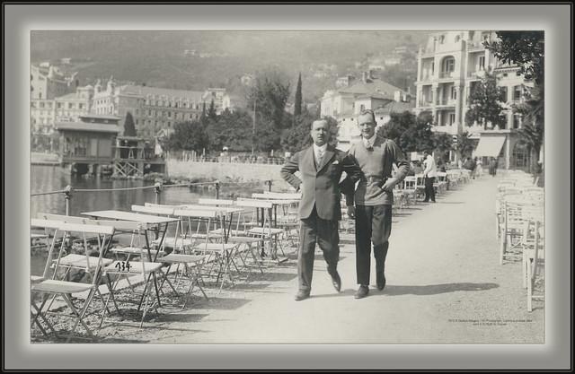 7875 R Opatija Abbazia 134. Photograph. Cartolina postale Italia sent 9.IV.1926. to Zagreb