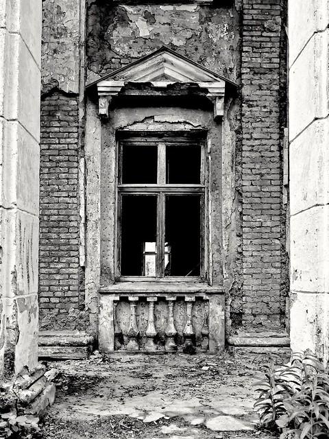 window between columns