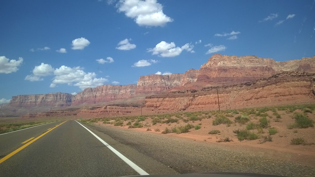 U.S. Route 89A looking at Vermilion Cliffs National Monument  8/22/2015