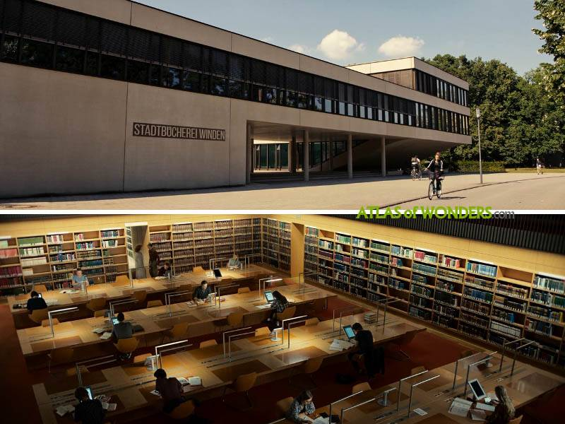 Library scene