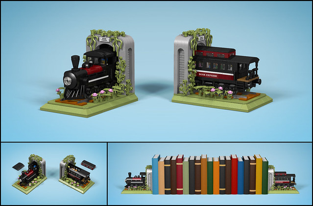 LEGO - Train Bookends