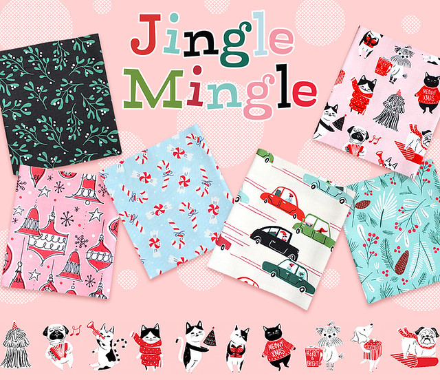 Cloud9 Fabrics Jingle Mingle a Curated Collection