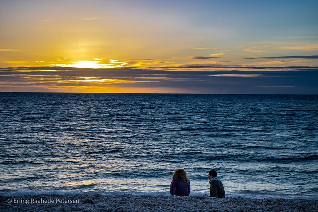 Normandy sunset