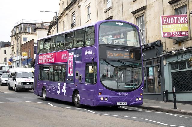 First Bus West of England 'Citylines 3 & 4' Wright Gemini WX58 JXZ 37614 , Whiteladies Road Clifton Bristol 7.7.20