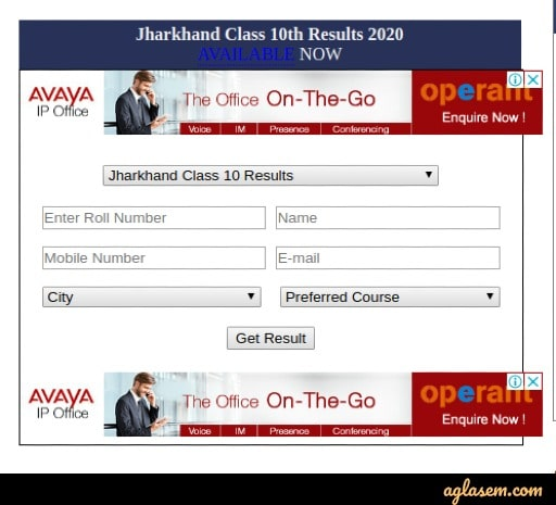 Jharkhand JAC 10th result 2020