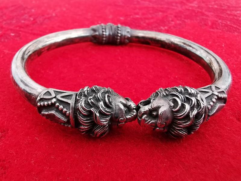 Men's Silver Satyr Torc Bracelet