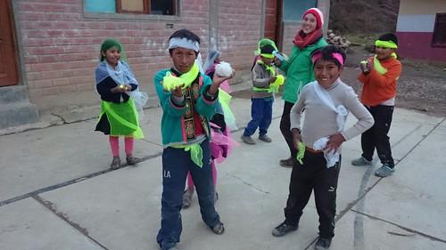Bolívia.príprava na Deň matiek