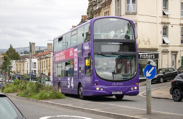 First Bus West of England 'Citylines 3 & 4' Wright Gemini WX58 JYB 37616 , Whiteladies Road Clifton Bristol 7.7.20