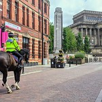 Mounted police on Friargate, Preston