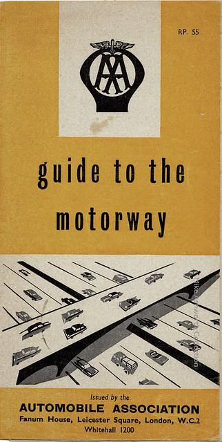 AA Guide to the Motorway - descriptive brochure, 1959