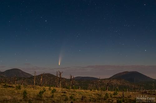 arizona c2020f3neowise astronomy astrophotography comet nightscape