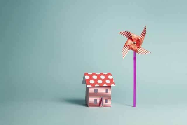 Paper Home and Wind Turbine