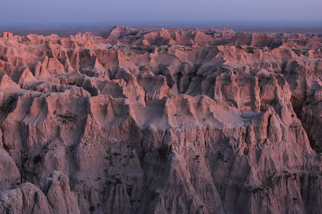 Pinnacles Sunset - Badlands National Park, South Dakota
