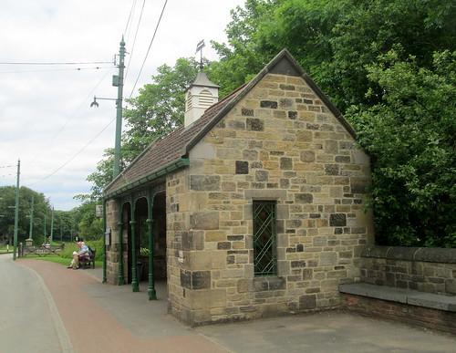 A Tram/Bus Stop at Beamish