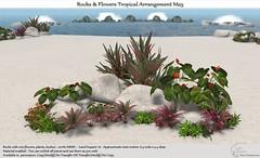 .:Tm:.Creation Tropical Flowers Rocks Arrangement M25
