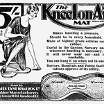 Wed, 2020-07-08 16:43 - The Kneel-on-Air mat made by James Lyne Hancock Ltd., Rubber manufacturers, 266 Goswell Rd., London E.C.1. Advertisement in Benn's Encyclopedia of Hardware 1926.