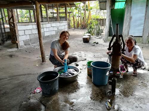 Filipíny. pranie prádla
