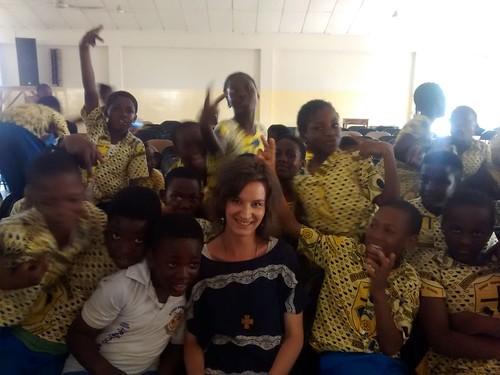 Ghana.na hodine v škole