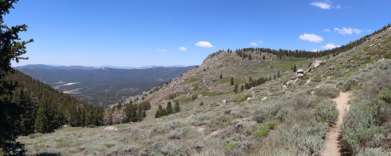 One last view of beautiful Brush Meadow on the western slope of Olancha Peak