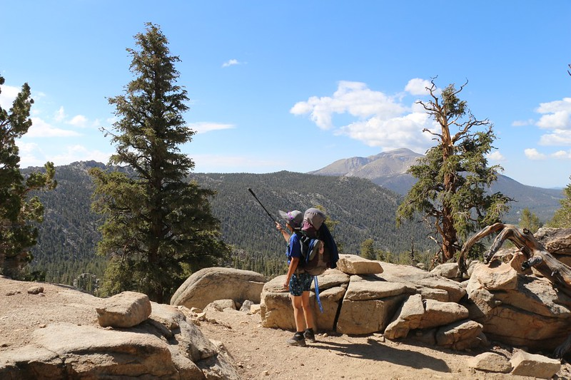 The Sierra Crest and Olancha Peak as we begin heading down a long ridge into the valley on the right