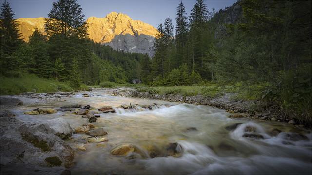 _DSC7616 Schermberg Mountain and Stranegg-Torrent at Sunset / Upper-Austria