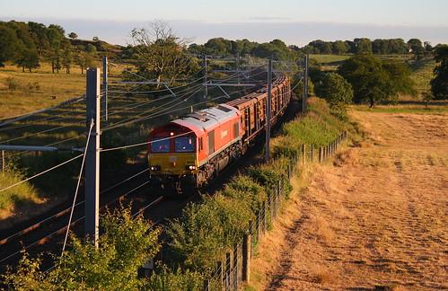 class 66 66101 6s88 magiscroft sunset train railway