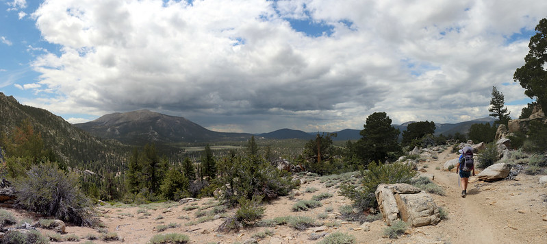 Cumulus clouds over Olancha Peak, with Strawberry Meadow down in the valley of the South Fork Kern River