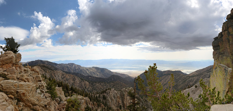 View east over Owens Valley from the PCT south of Muah Mountain